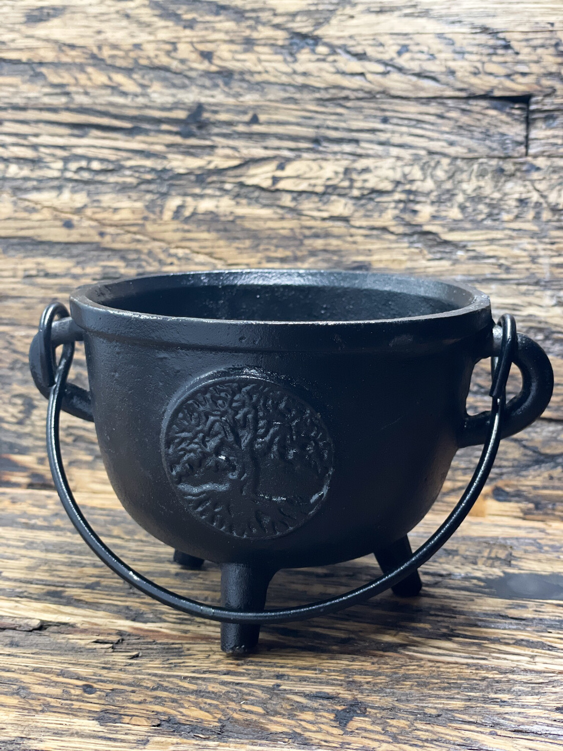 "Cast Iron Cauldron 4.5"" Tree Of Life"