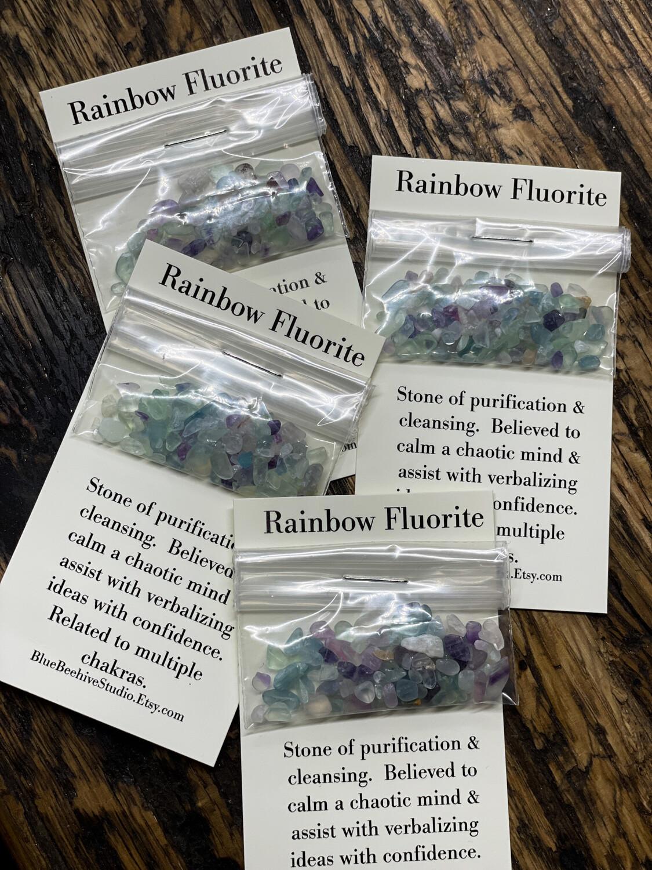 Rainbow Fluorite chips