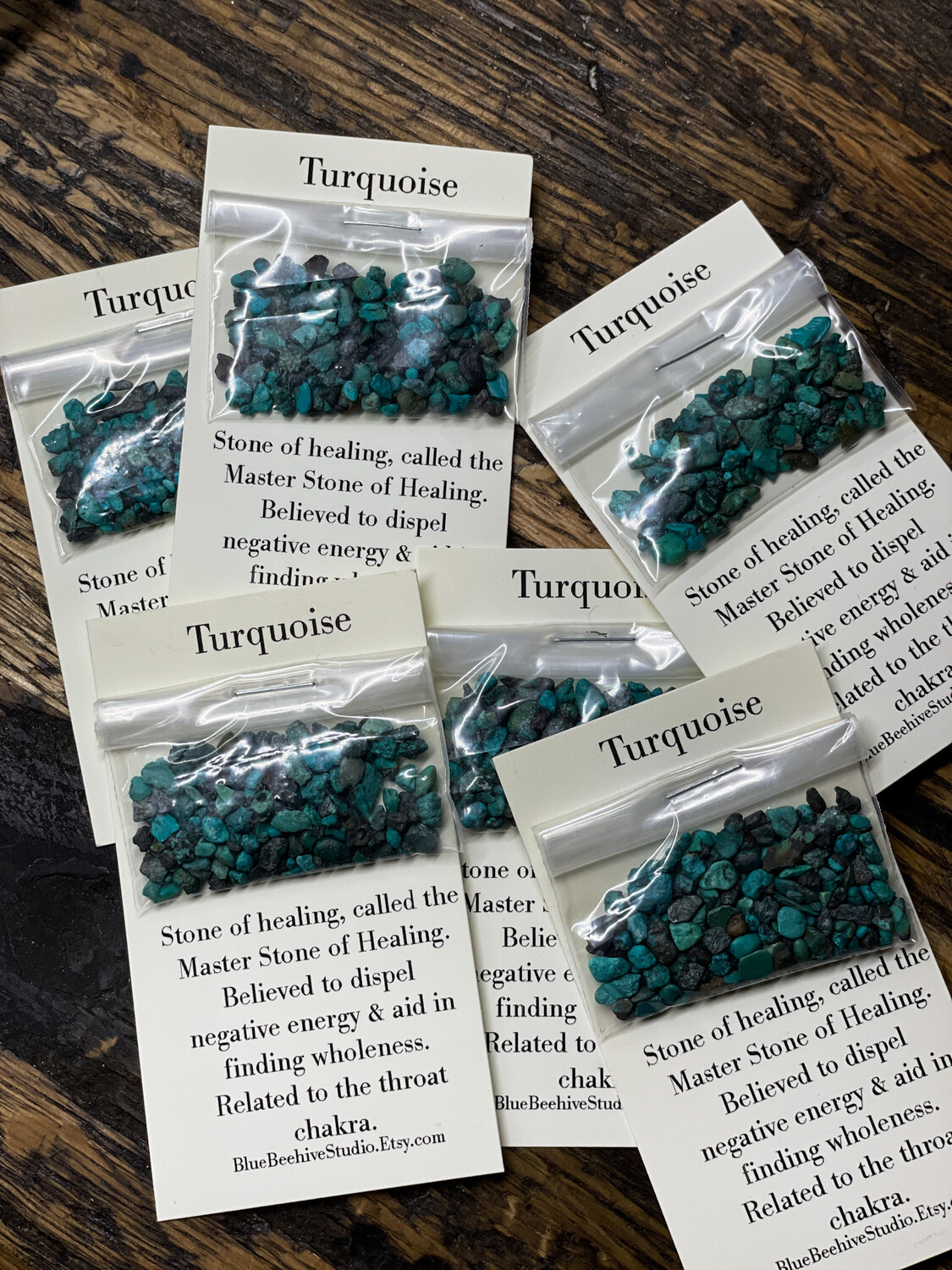 Turquoise chips