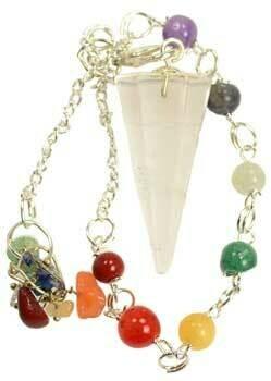 Chakra Clear Quartz Pendulum