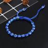 Evil Eye Bracelet blue adjustable multi bead