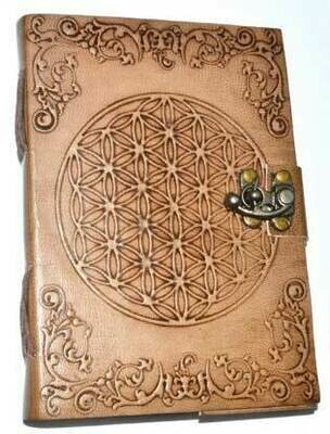 Flower of Life Leather Journal 5x7