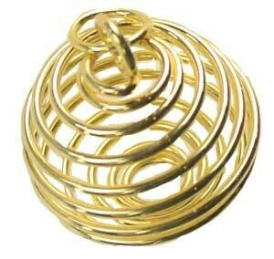 """Gold coil 1"""" necklace"""
