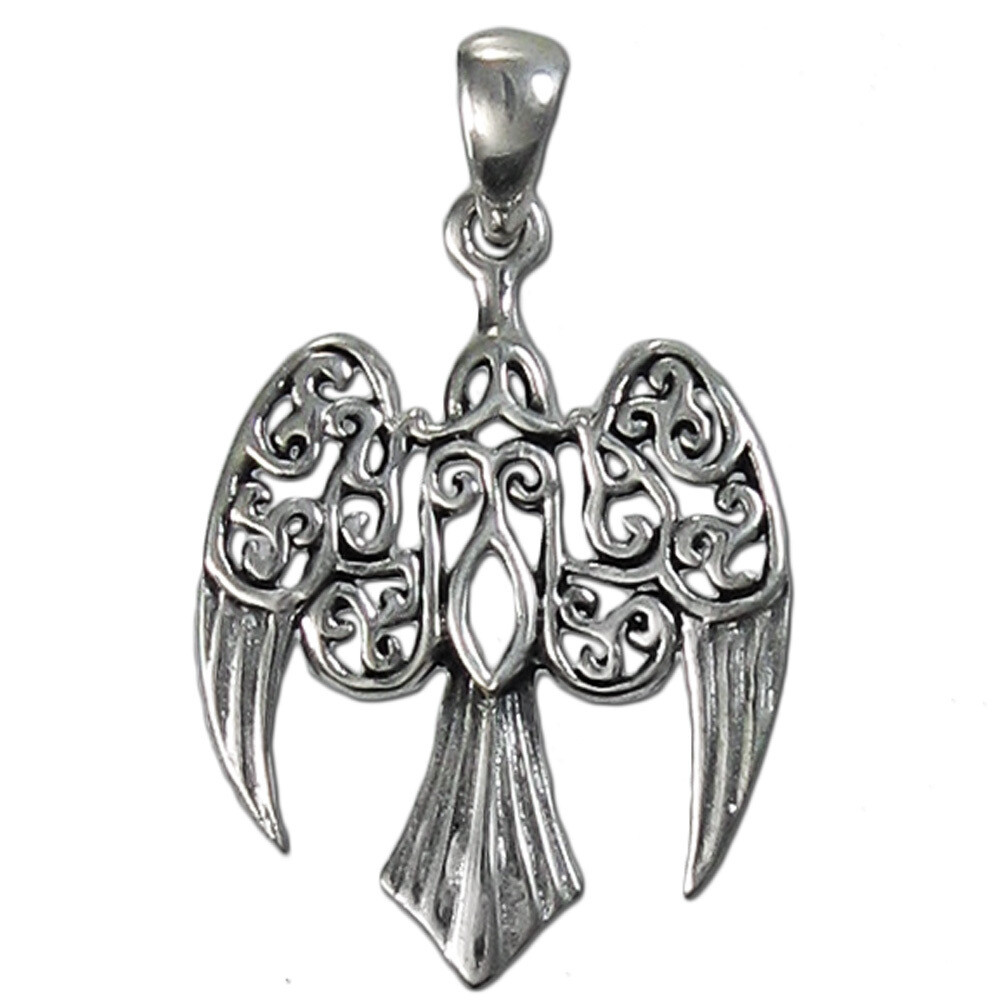 Sterling Small Raven Pendant 3027