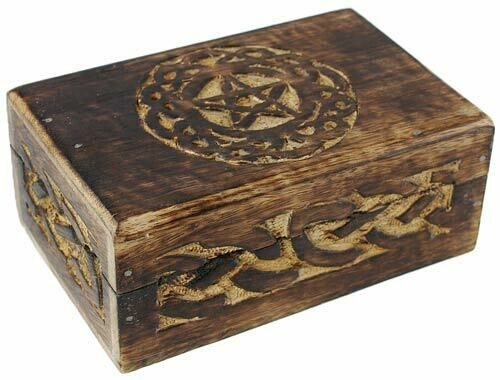 "Celtic Knot Pentagram Box 4x6"""