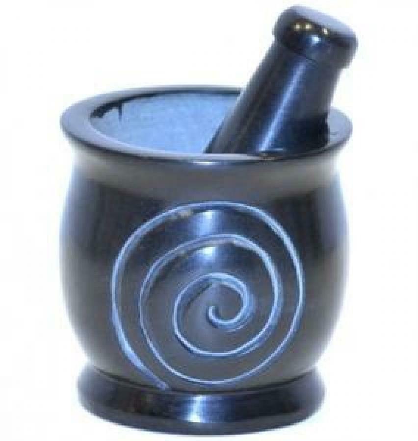 One Spiral Mortar & Pestle