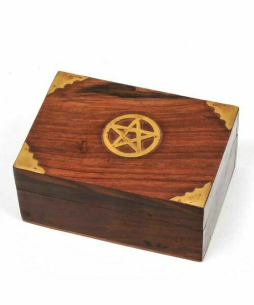 Pentagram inlay wood box 3x4