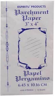 """3""""x4"""" Parchment Paper 12 pack"""