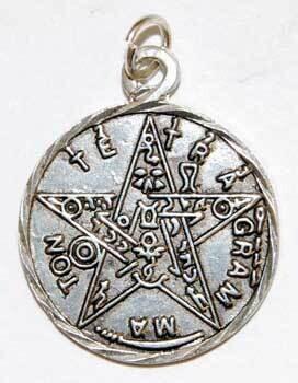 Tetragrammaton pewter pendant