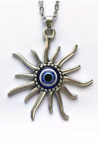Mayan Sun Evil Eye necklace