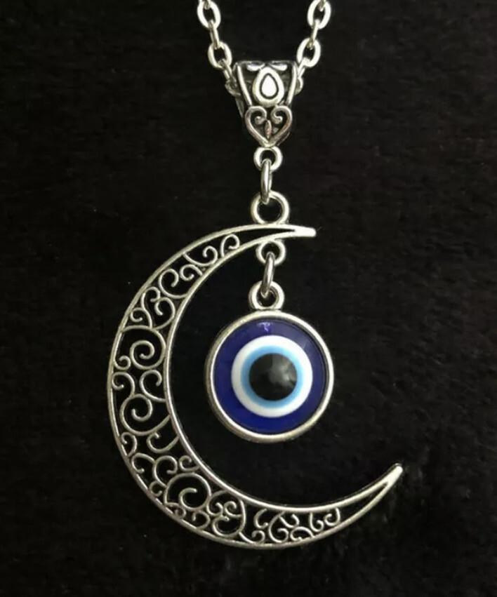 Moon Evil Eye necklace