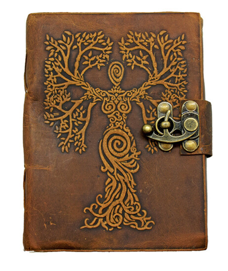 """Tree Woman Leather Journal 5x7"""""""