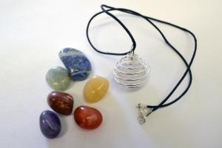 7 Chakra Crystal Necklace set