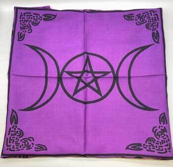 """Triple Moon Pentagram purple 18x18"""""""