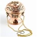 """Triple Moon Tibetan Copper Hanging Censer Burner 5.5"""""""