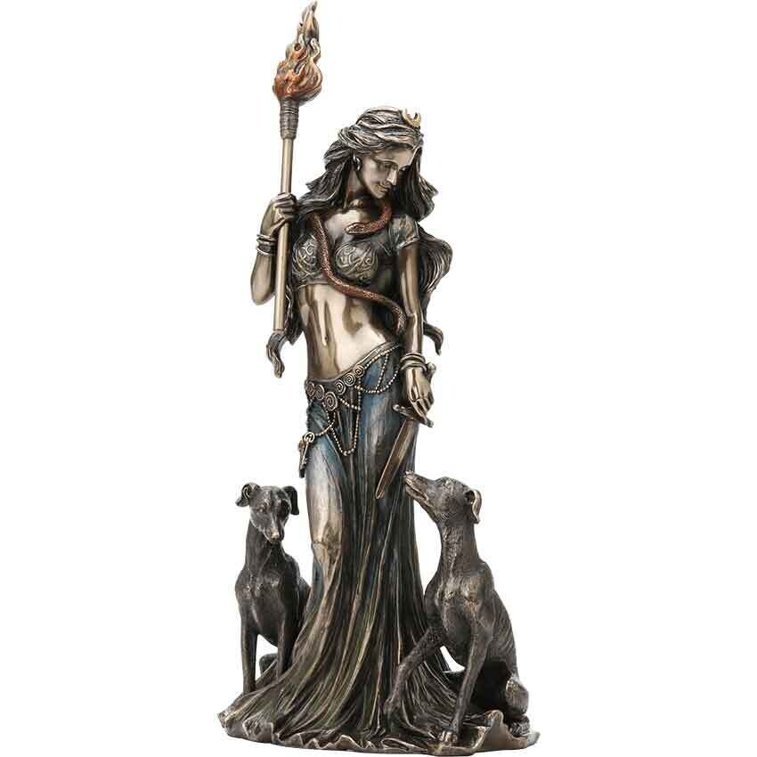 Hecate Greek Goddess with her Hounds
