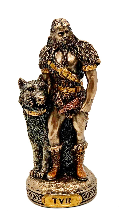 "Tyr bronzed figure 3.5"""