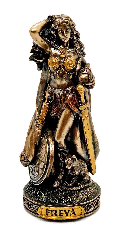 """Freya bronzed figure 3.5"""""""