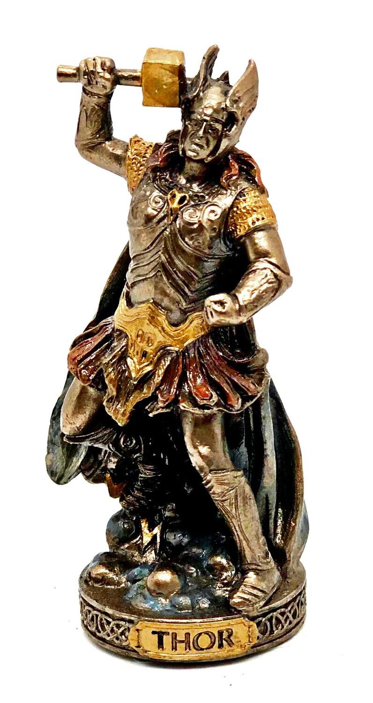 "Thor bronzed figure 3.5"""