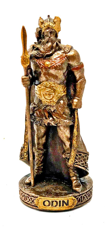 """Odin bronzed figure 3.5"""""""