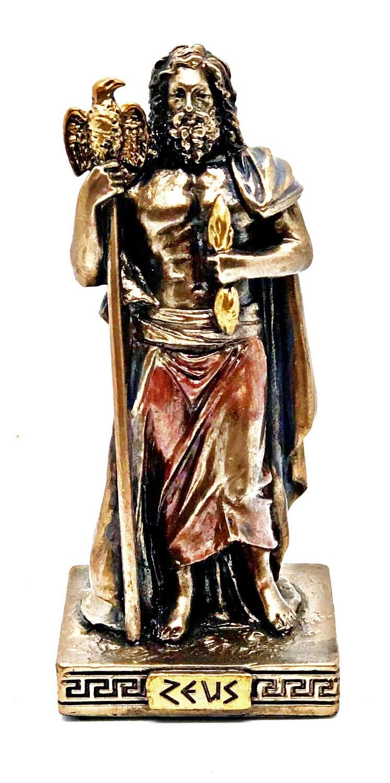 """Zeus bronzed figure 3.5"""""""