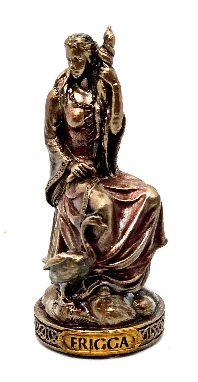 "Frigga bronzed figure 3.5"""