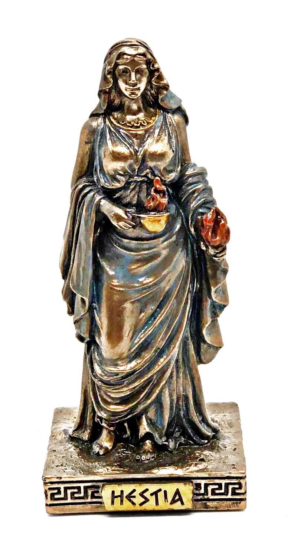 "Hestia bronzed figure 3.5"""