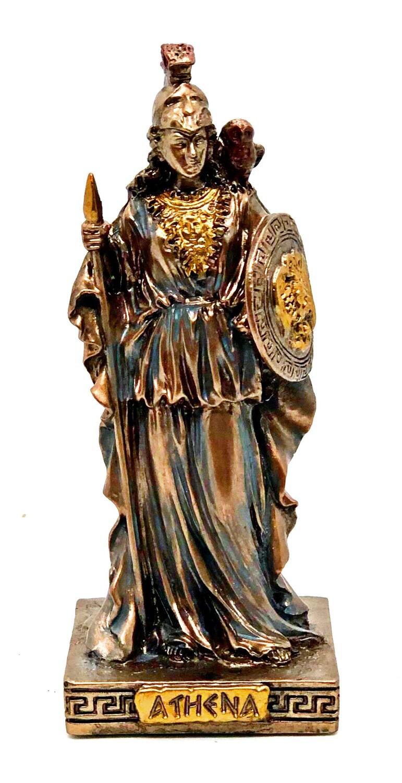 """Athena bronzed figure 3.5"""""""