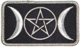 Silver Triple Moon Patch