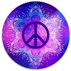 Peace Mandala Color Sticker