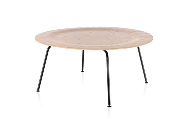 Herman Miller Eames Molded Plywood Coffee Table Metal Base