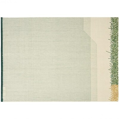 Gan Backstitch Calm Rug Green