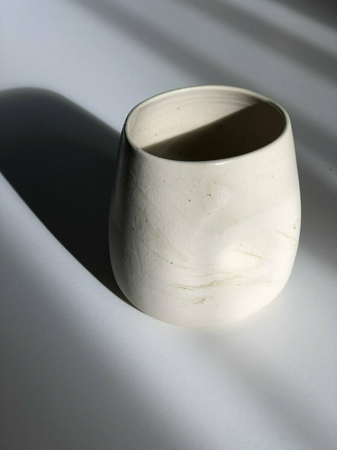 Dimple Cup - White Speckle
