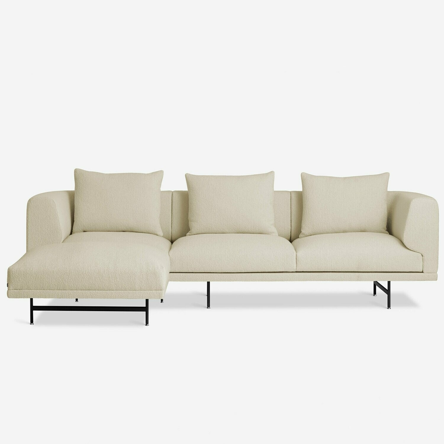 Vipp Chimney sofa, 3-seater w/ chaise lounge