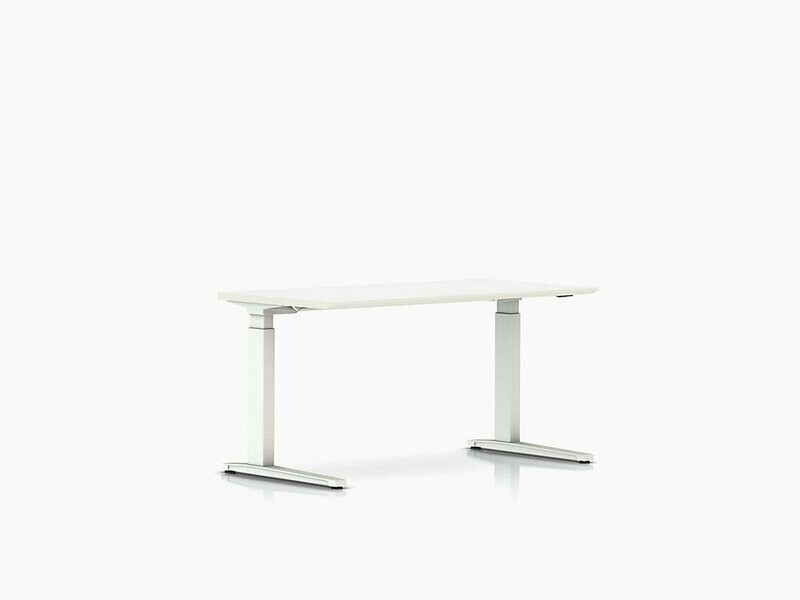 Herman Miller Renew™ Sit-to-Stand Table Rectangular C-Foot