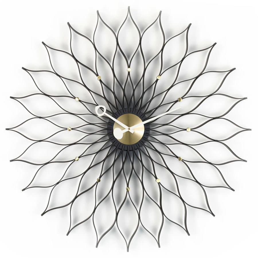 Vitra Sunflower Black Ash Clock