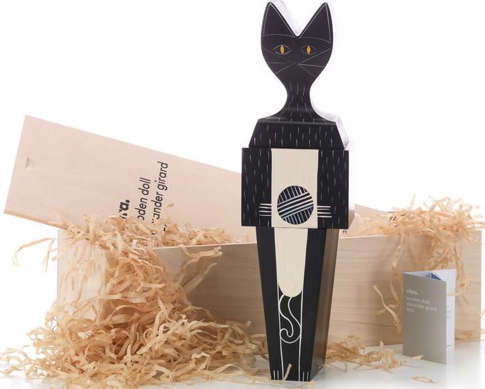 Vitra Alexander Girard Wooden Puzzle Doll XL Cat
