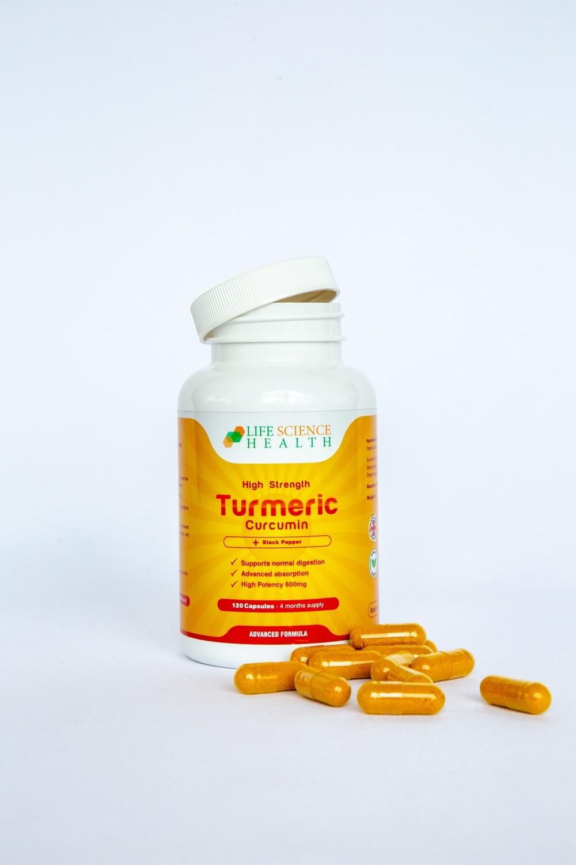 Turmeric Curcumin High Strength 1200mg with Bioperine 5mg