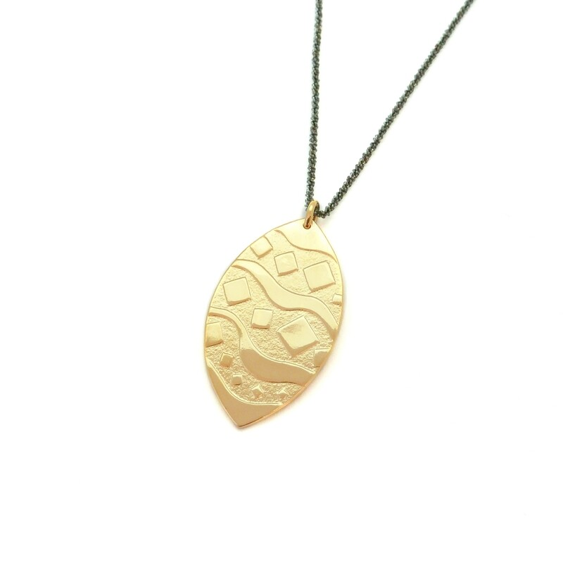 Pendentif Camden - Bronze plaqué or 18ct 5 microns