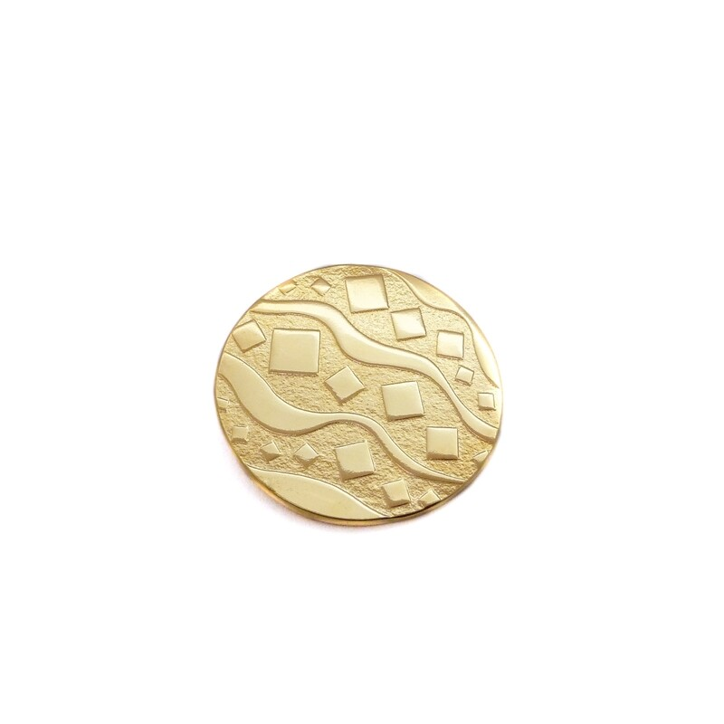 Broche Camden - Bronze plaqué or 18ct 3 microns