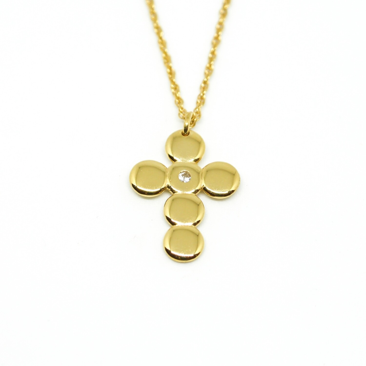 "Collier ""Westminster"" - Or jaune 18ct et saphir blanc"