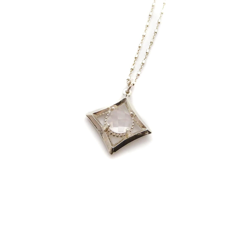 """Collier """"Mayfair"""" - Petit modèle - Argent 925 et pierre naturelle"""