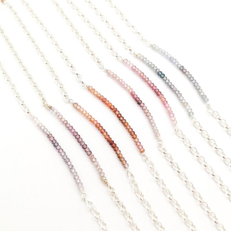 Bracelet Piccadilly en argent 925 et quartz colorés