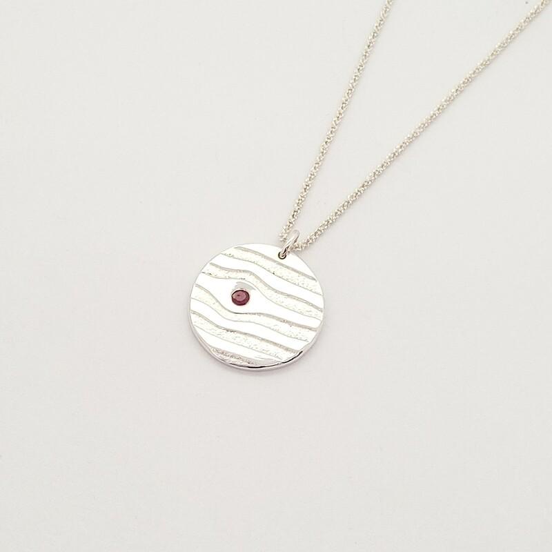 Pendentif Mini Soho - Argent 925 et rubis