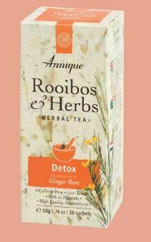 Herbal Tea: Rooibos & Ginger (Detox) 50g