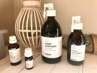 Hand Sanitiser Set (500ml, 200ml, 50ml, 10ml)