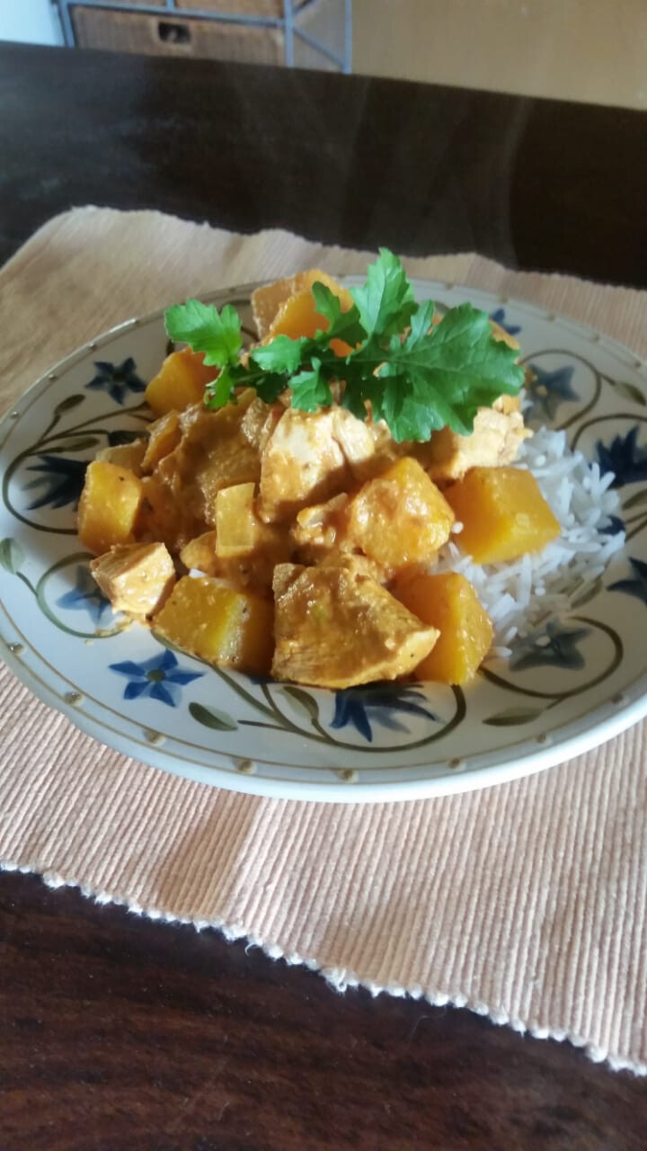 Low Carb Free Range Chicken and Butternut Korma (No Rice) (to Order) (Single)