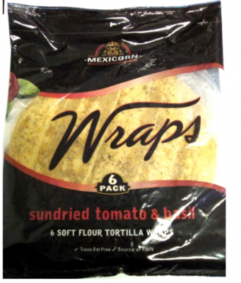 Sundried Tomato and Basil Wraps (6)