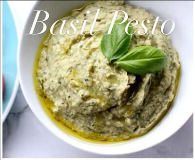 Hummus (Basil Pesto)