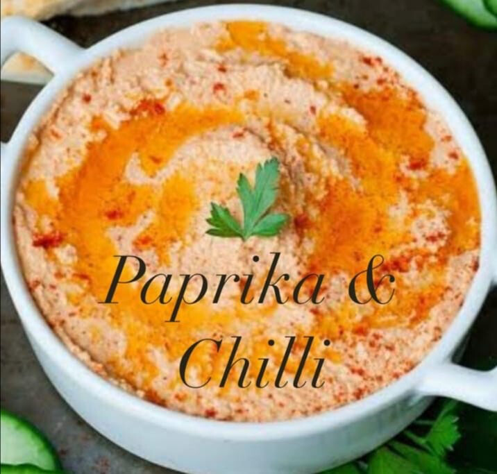 Hummus (Paprika and Chili) 80g x 3 Lunch snack size